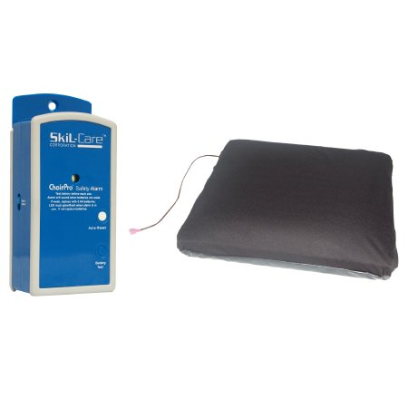 Skil-Care- Wheelchair Gel Floatation Cushion + Alarm 909384