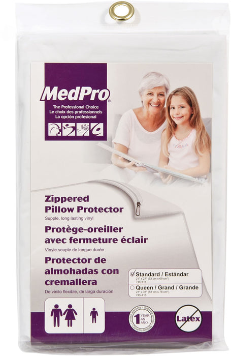 MedPro Zippered Pillow Protector, Standard