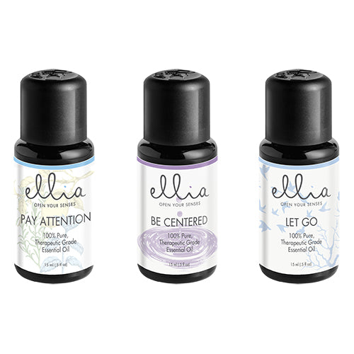 ESSENTIAL OIL 3-PACK: PAY ATTENTION, BE CENTERED AND LET GO - Relaxacare