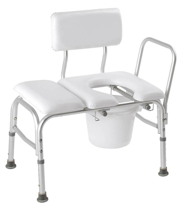 CAREX DELUXE PADDED TRANSFER BENCH WITH OPENING & BUCKET - Relaxacare