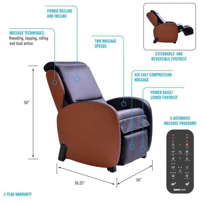 ObusForme Massage Chair Recliner 300 series - Relaxacare