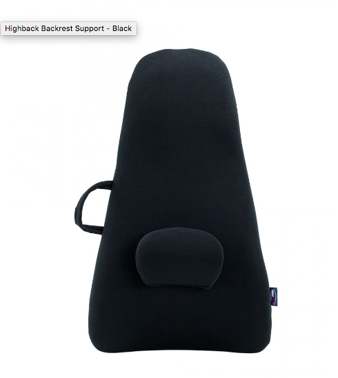 ObusForme - HIGHBACK BACKREST SUPPORT - BLACK - Relaxacare