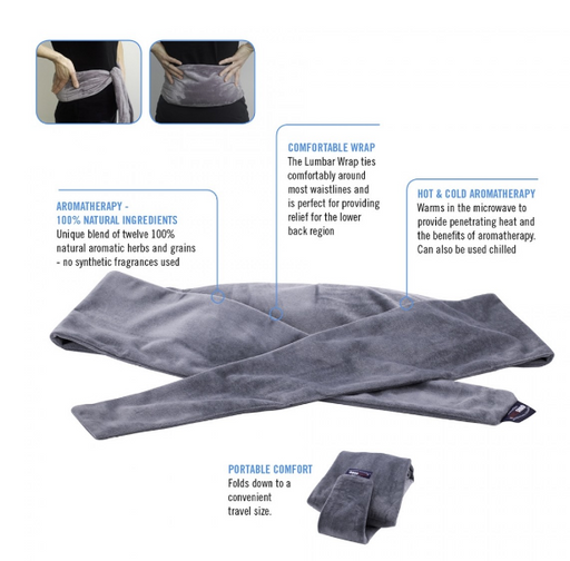 OBUSFORME HOT AND COLD AROMATHERAPY LUMBAR WRAP - Relaxacare