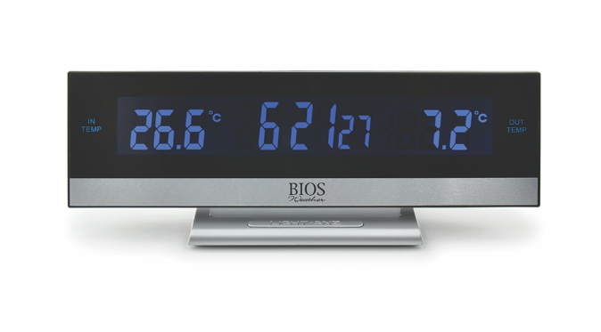 BIOS - Digital Indoor/Outdoor Wireless Thermometer with Alarm