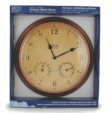 BIOS - Weather 3-in-1 Outdoor Clock