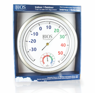 BIOS - Colour Dial Thermometer with Hygrometer