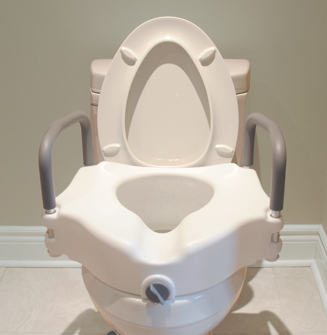 BIOS - Raised Toilet Seat with Handles