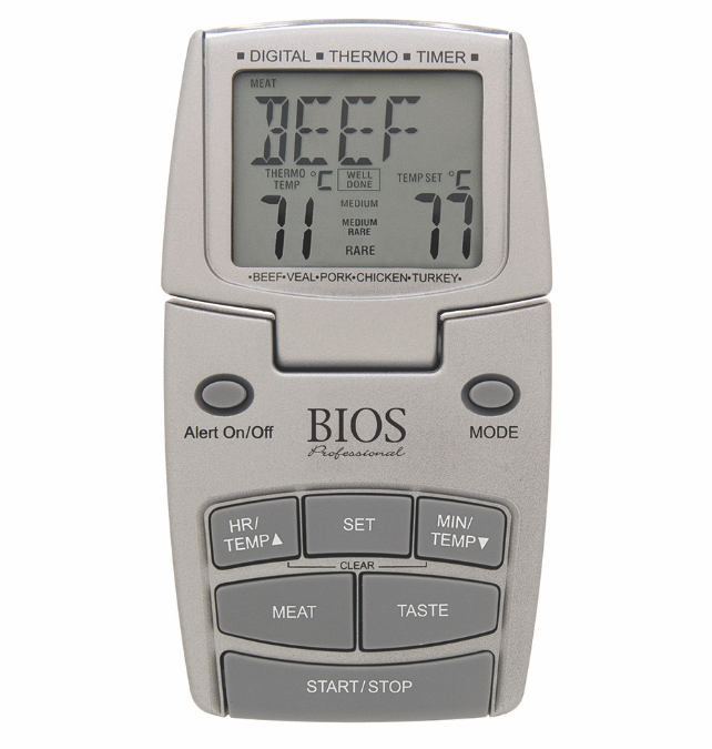 BIOS - Meat and Poultry Thermometer Timer
