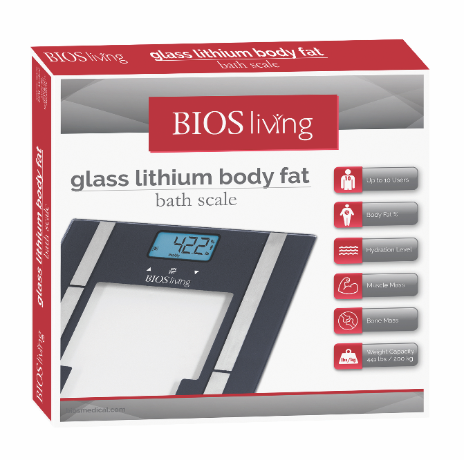 BIOS - Glass Lithium Body Fat Scale