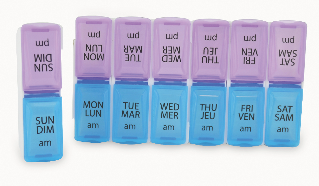 BIOS - 7 Day Pill Organizer with AM/PM Compartments