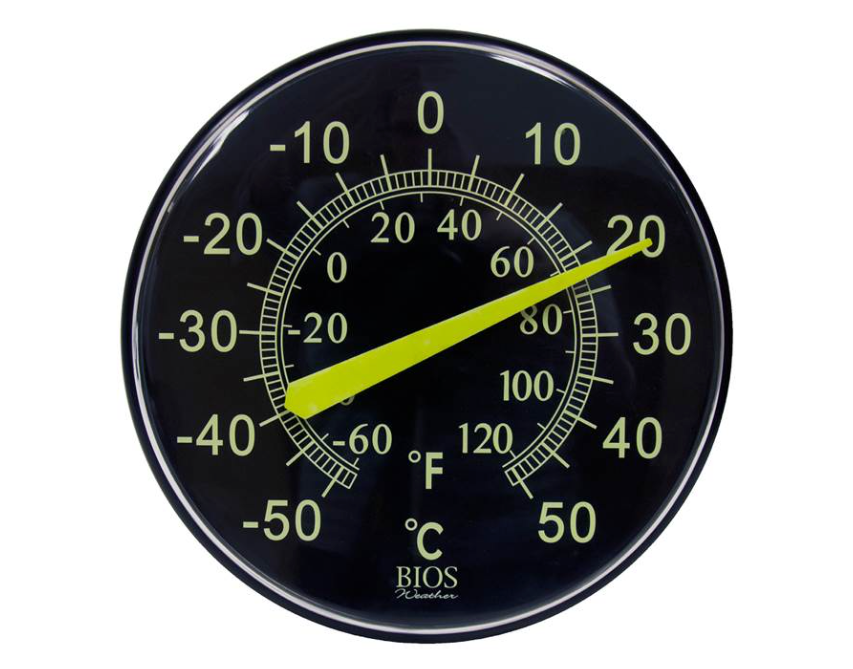 BIOS - Neon Dial Thermometer, 12""