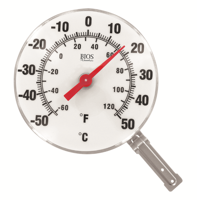 BIOS - 6-Inch Dial Thermometer, Black & White