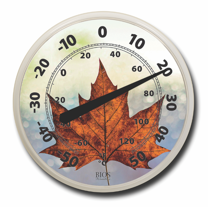 "BIOS - 12 ""Dial Thermometer - maple Leaf"