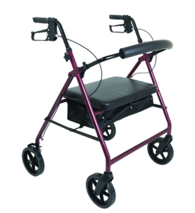 ProBasics Bariatric Aluminum Rollator, 8 in Wheels, 400 lb Weight Capacity - Relaxacare