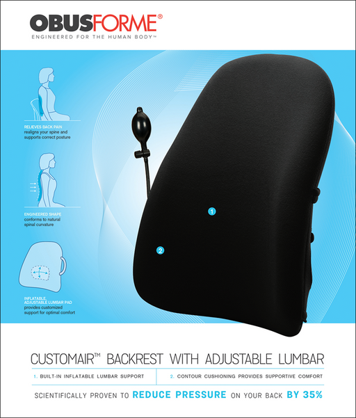 ObusForme CustomAIR Backrest with Adjustable Lumbar - Relaxacare