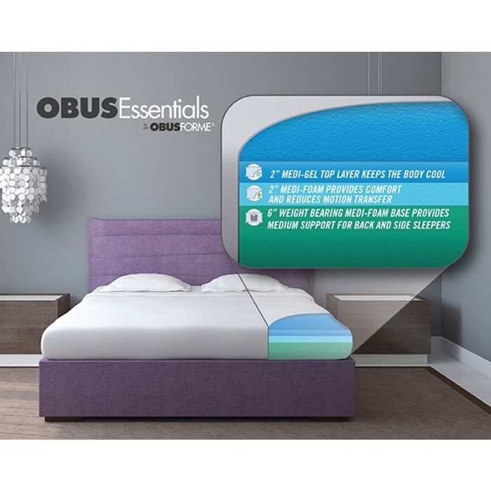"ObusForme GEL SERIES 10"" Bed in a Box Mattress - Relaxacare"