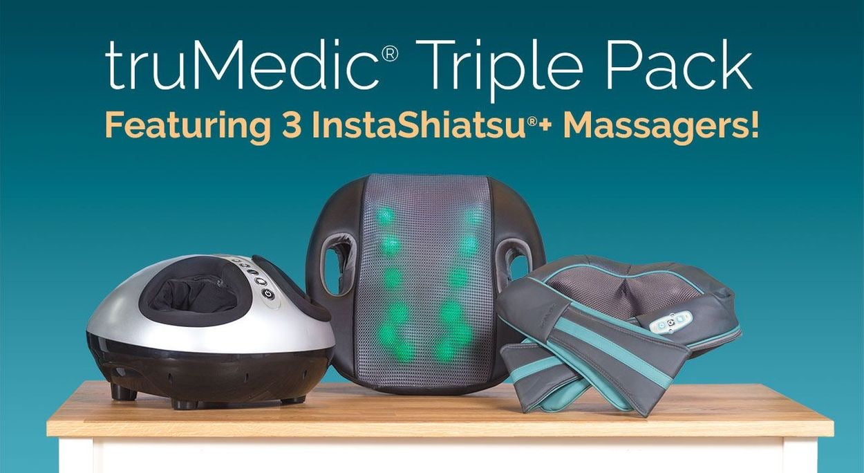 TruMedic Massager Bundle Pack Neck Massager, Foot Massager and Back Massager - Relaxacare