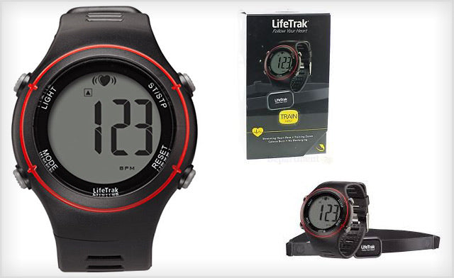 LifeTrak Train Heart Watch with monitor band