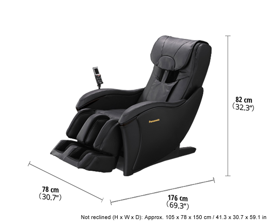 Panasonic Urban Series Massage Chair With Heated Foot & Calf Massage (EPMA03K)