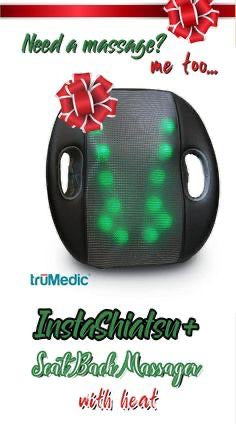 TruMedic IS-5000  InstaShiatsu+ Seat Back Massager With Heat - Relaxacare
