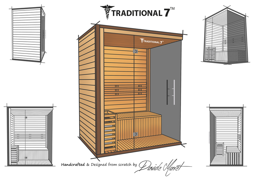 Traditional 7 Steam Sauna 4 person