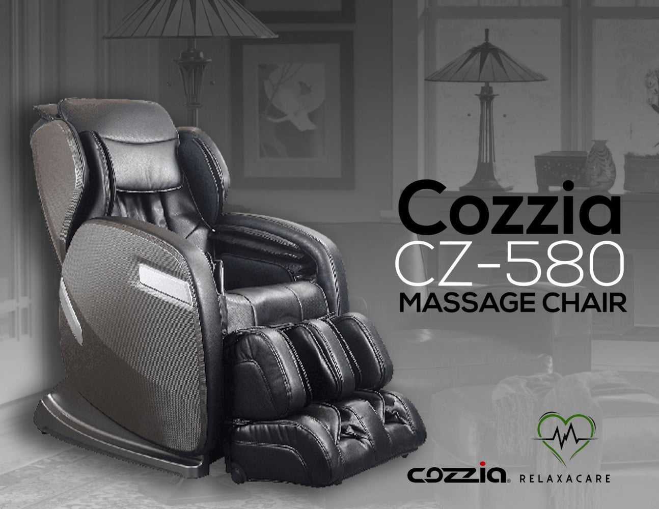 BrownSpecial Buy--Cozzia CZ-580 Massage Chair- W track( S and L track Combo)