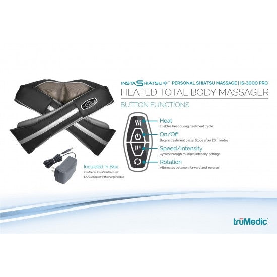 Demo unit -TruMedic is-3000 Neck Massager with heat - Relaxacare