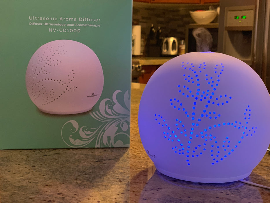 Nuvoessence Ceramic Diffuser with light therapy - Relaxacare
