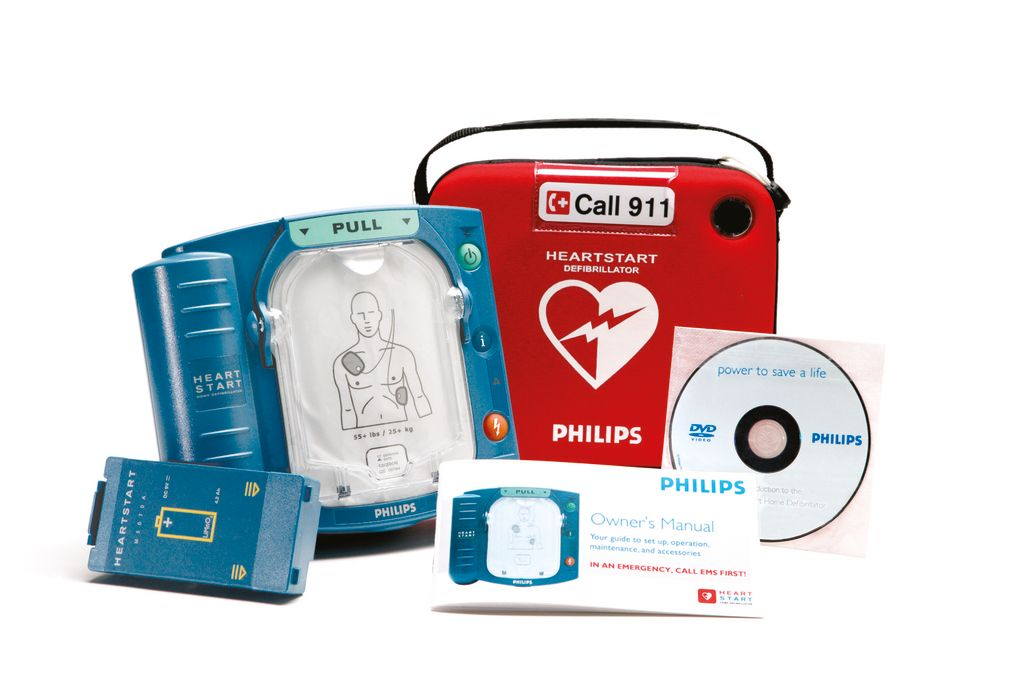 Philips - HeartStart Home AED with Slim Carrying Case