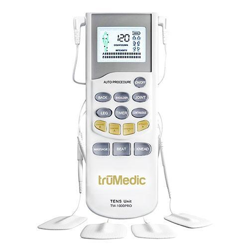 TruMedic TM-1000PRO Deluxe TENS Unit Electronic Pulse Massager - Relaxacare