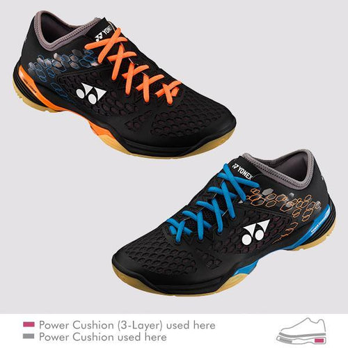YONEX 2017 POWER CUSHION 03Z LCW MEN'S COURT SHOES [BLUE/ORANGE]