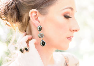 Onyx Statement Earrings