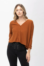 Wisteria Waffle-knit Top