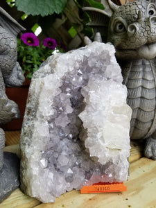 Amethyst Crystal cathedral with Quartz Moon