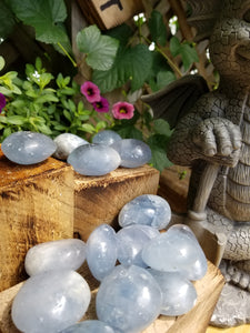 Celestite Crystal Tumbled