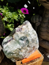 Green Purple Fluorite Rough