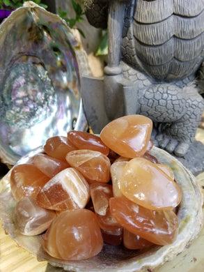 Honey Calcite Tumbled Stone