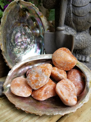 Orange Calcite Tumbled Stone