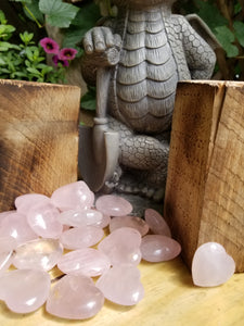 Rose Quartz Heart Tumbled
