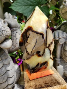 Septarian  Dragons Egg Flame piller