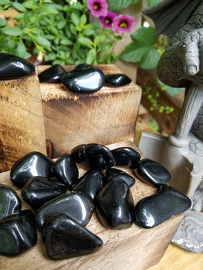 Sheen Obsidian Tumbled Stone