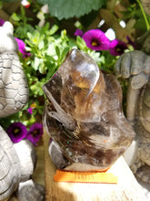 Smoky Quartz Flame Piller