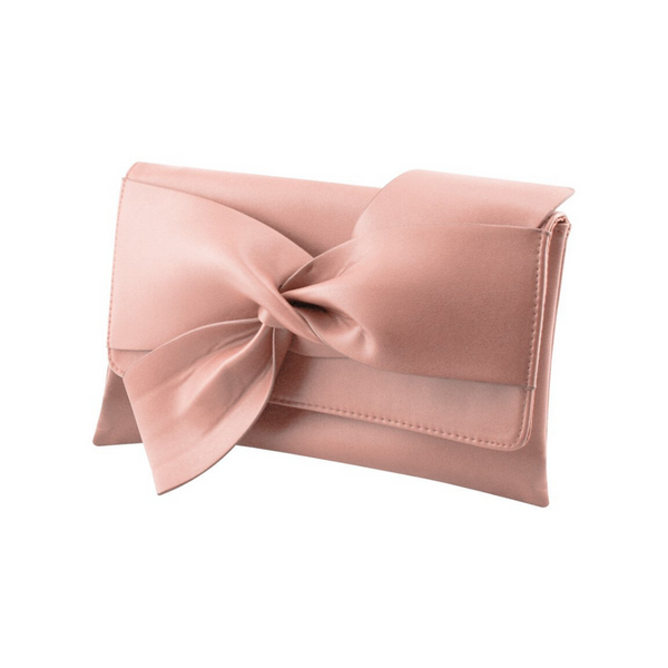 Faux Leather Evening Clutch Bag - Amoi London