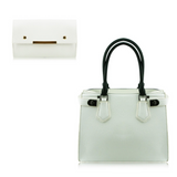 Faux Leather Handbag with Purse - Amoi London