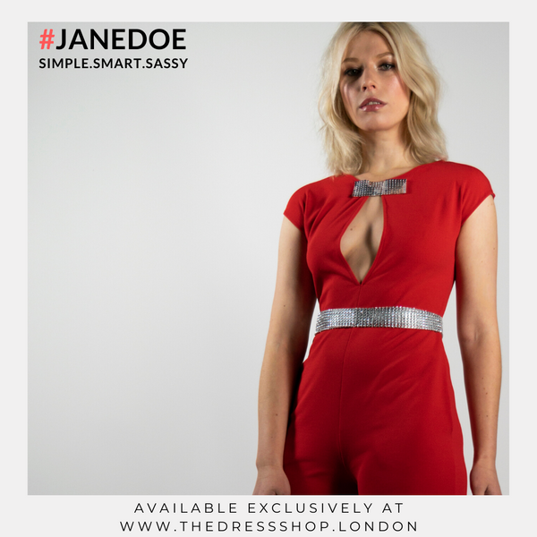 Red Jump Suit - #JANEDOE