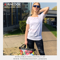 White Bardot Top - #JANEDOE
