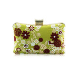 Floral Embroidered Clutch - Amoi London