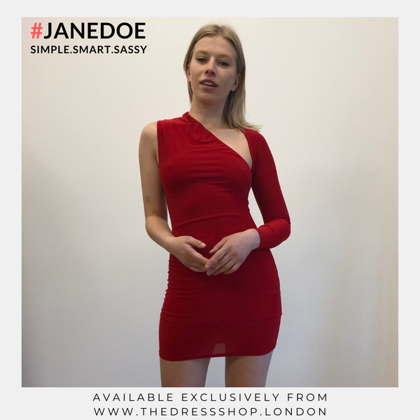 One Shoulder Bodycon dress by #JANEDOE