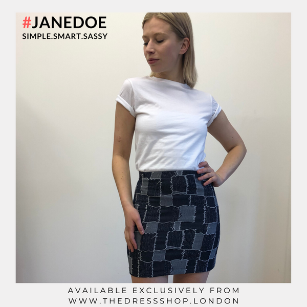 Patchwork Mini Skirt - #JANEDOE