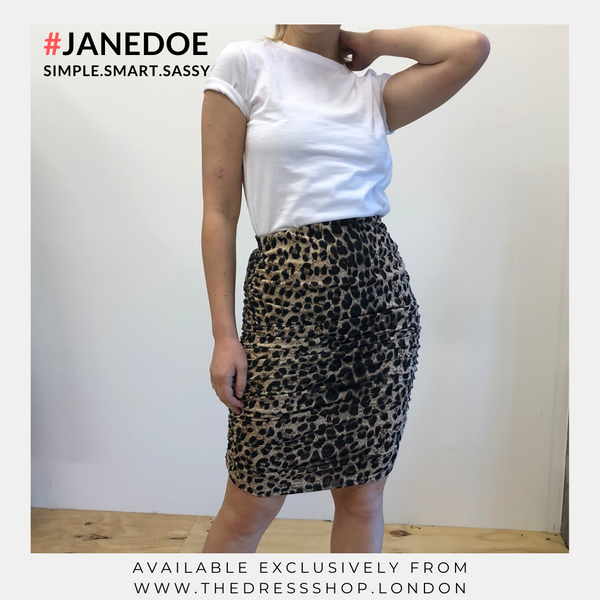 Animal Print Mini Skirt - #JANEDOE
